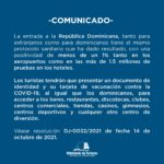 """""""Extranjeros y dominicanos tendrán que cumplir los mismos protocolos sanitarios"""""""